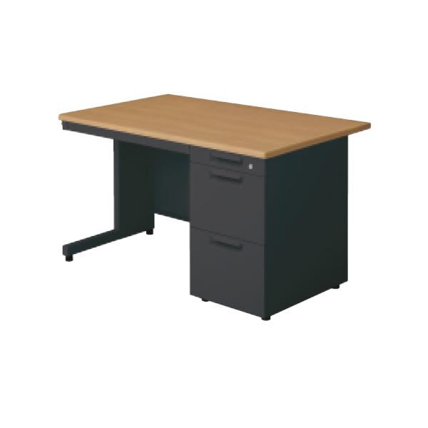 LEED Desk(リードデスク) 片袖机 L字脚(A-3段袖) 幅1100×奥行700mm【LE-117A-3】