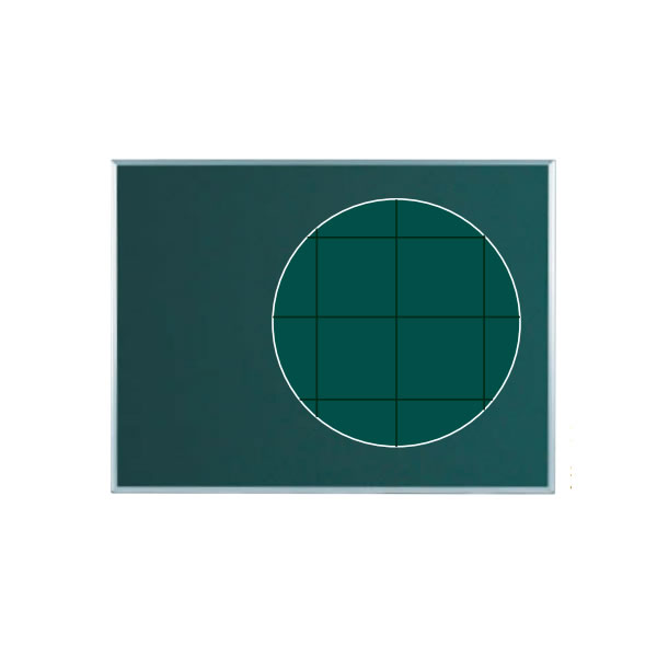 壁掛暗線入り黒板 1210×910mm【MS34X】