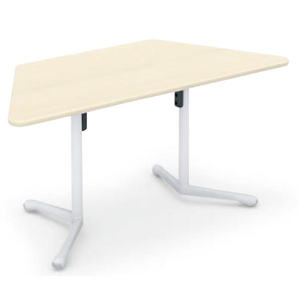コクヨ キャンパスアップ 台形フラップテーブル 幅1530×奥行695×高さ720mm【MT-GFD】