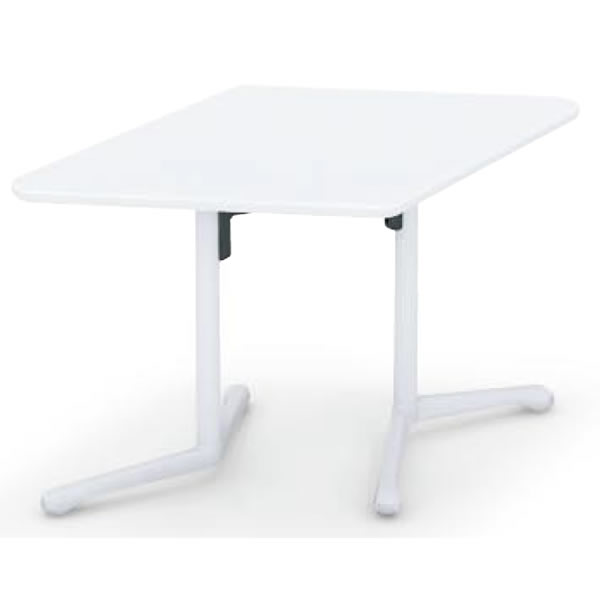 コクヨ キャンパスアップ ひし形フラップテーブル 幅1290×奥行785×高さ720mm【MT-GFH】