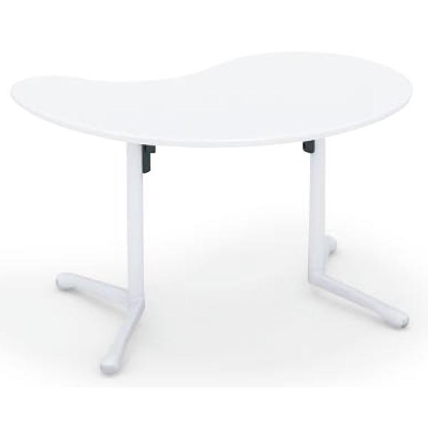 コクヨ キャンパスアップ 勾玉形フラップテーブル 幅1240×奥行760×高さ720mm【MT-GFM】