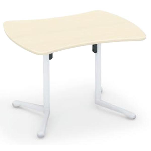コクヨ キャンパスアップ リボン形フラップテーブル 幅1060×奥行845×高さ720mm【MT-GFR】
