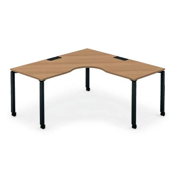 ワークフィット L型テーブル 幅1600×奥行1600 キャスター脚【SD-WFCL1616】