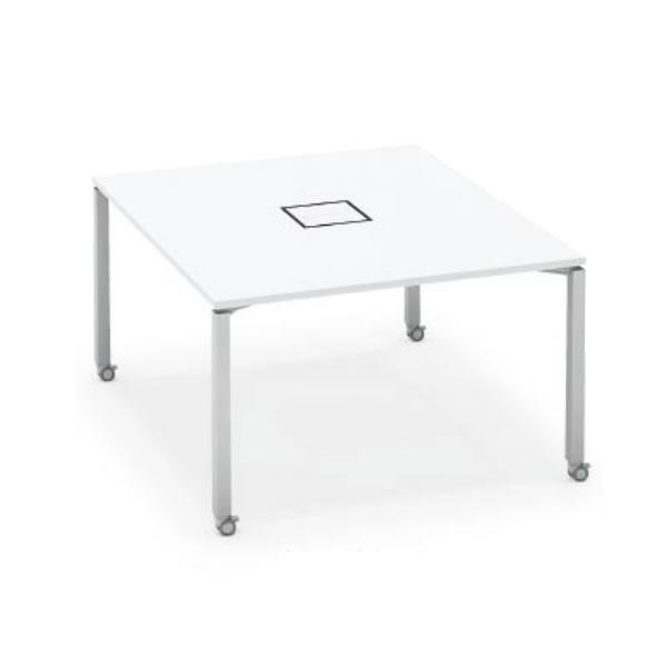 ワークフィット スタンダードテーブル 両面タイプ 幅1200×奥行1400 アジャスター脚【SD-WFA1214】