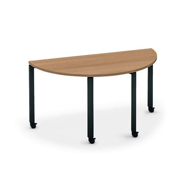 ワークフィット ミーティングテーブル 半円形 キャスタータイプ 幅1400×奥行700×高さ720mm【SD-WFTC14H】