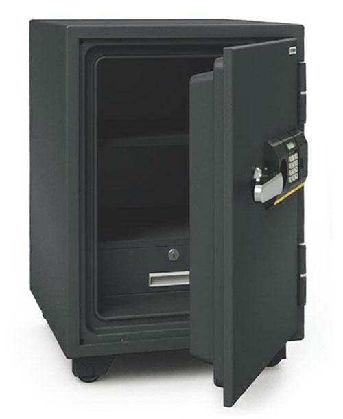 スタンダードシリーズ 家庭用・小型耐火金庫 テンキー式+シリンダー錠 51リットル アラーム付き【BSD-PKXA】