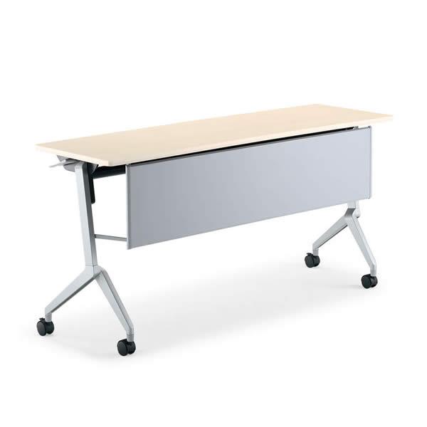 コクヨ リーフライン 会議用テーブル フラップテーブル 幅1800×奥行600mm パネル付き・棚なしタイプ【KT-P1201N】