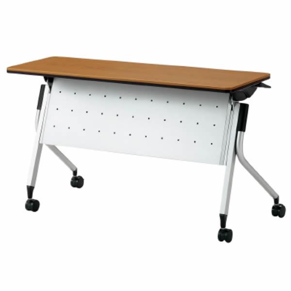 Linello2(リネロ2) フォールディングテーブル 幕板付 幅1200×奥行450×高さ720mm【LD-415M】
