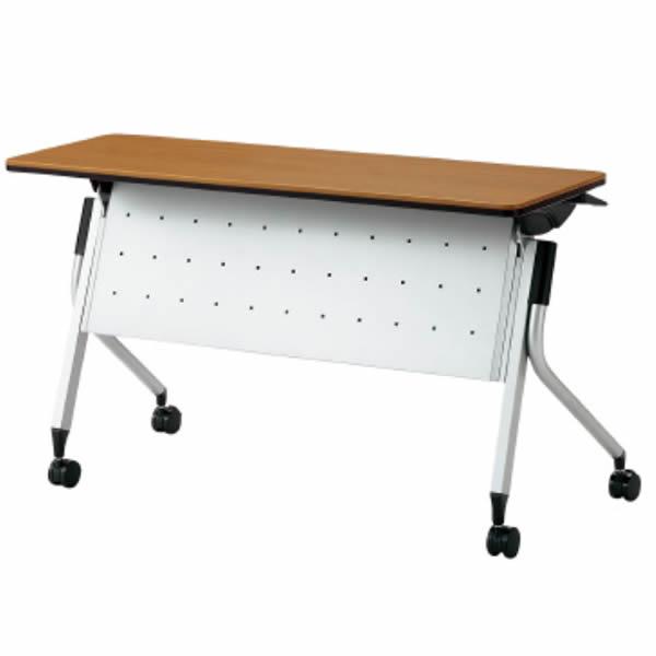 Linello2(リネロ2) フォールディングテーブル  幕板付  幅1200×奥行450×高さ700mm【LD-415M-70】