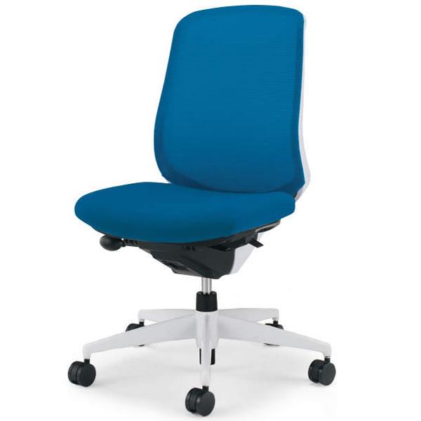 コクヨ シロッコ(Scirocco) オフィスチェア ハイバック 肘なし(ランバーサポートなし) 背座別色 樹脂脚(ホワイト/クリーンテクトコーティング)【CR-GW2602E1C】