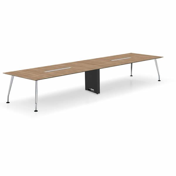 コクヨ SAIBI(サイビ) ミーティングテーブル スクエアタイプ(2連) 配線なし 塗装脚 木目天板 幅4800×奥行1200mm【SD-XK4812AS81】