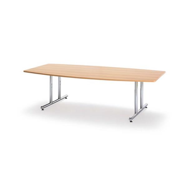 ミーティングテーブル・会議テーブル/【ボート形・幅2400×奥行き1200mm】【WT-2412B-M1】