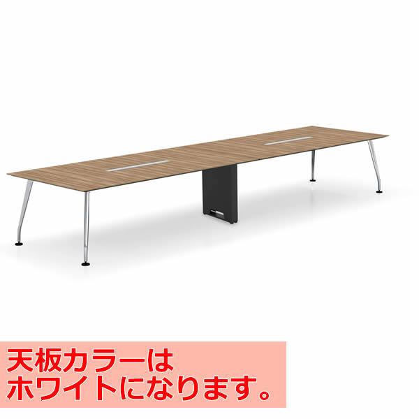 コクヨ SAIBI(サイビ) ミーティングテーブル スクエアタイプ(2連) 配線あり 塗装脚 ホワイト天板 幅4800×奥行1200mm【SD-XKU4812AS81PAW】