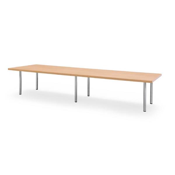 ミーティングテーブル・会議テーブル/ DXMテーブル 【角形・幅3600×奥行き1200mm・天板2分割】【DXM-3612k-M1】