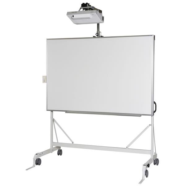 映写対応ホワイトボード 片面 電動昇降式電子黒板スタンド 超短焦点プロジェクター取付用 幅1810×奥行800×高さ2030mm【UME82】
