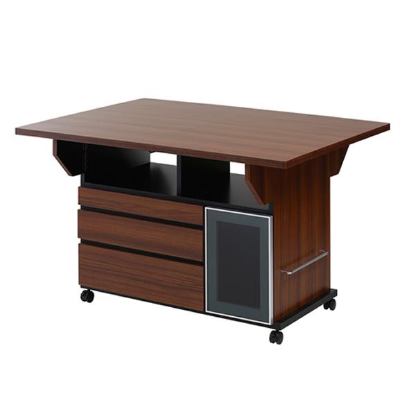 バタフライカウンターテーブル 幅119.5cm チェリーブラウン色【NSA-NO-0069】