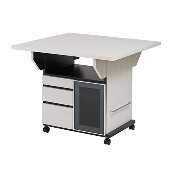 バタフライカウンターテーブル 幅89.5cm ホワイトウォッシュ色【NSA-NO-0066】