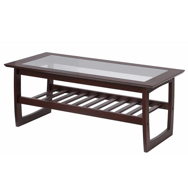 【ガラステーブル】 リビングテーブル -nim- DBR(ダークブラウン)※メーカー在庫限りで終了【IC-T-2827DBR】