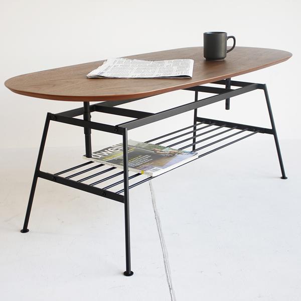 【anthem・アンセム】Adjustable Table/ アジャスタブルテーブル BR(ブラウン)【IC-ANT-2734BR】