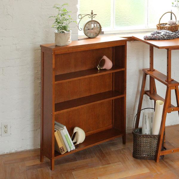 【hommage・オマージュ】Book Shelf/ ブックシェルフ BR(ブラウン)【IC-HMR-2664BR】
