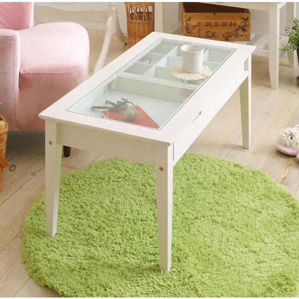 【ine reno・アイネ リノ】collection table/ コレクションテーブル WH(ホワイト)【IC-INT-2576WH】