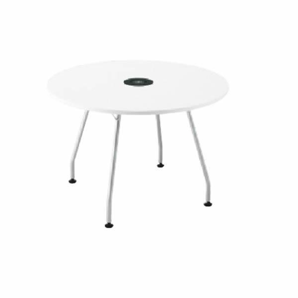 Light perch ワイヤレス充電テーブル 天板サークルタイプ 幅1200×奥行1200×高さ722mm (610399)【PL-1272Q】