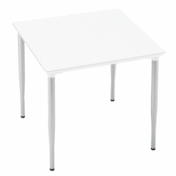 XMテーブル 高さ720タイプ/配線孔なし 幅750×奥行750mm 脚カラー(シルバー)【XM-077PSHM4】