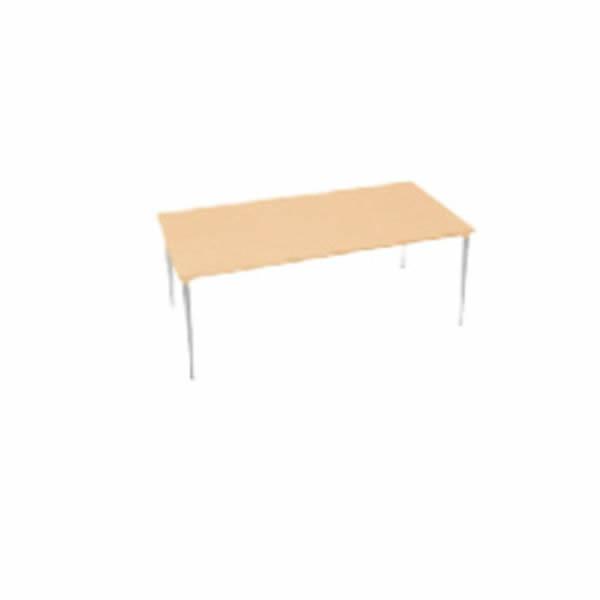 XMテーブル 高さ720タイプ/配線孔なし 幅1800×奥行750mm 脚カラー(メッキ)【XM-187PSHP】