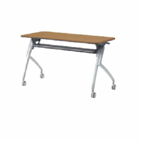 Luarco フォールディングテーブル アール天板 幕板なし・配線孔なし 幅1800×奥行600×高さ720mm【XT-620】