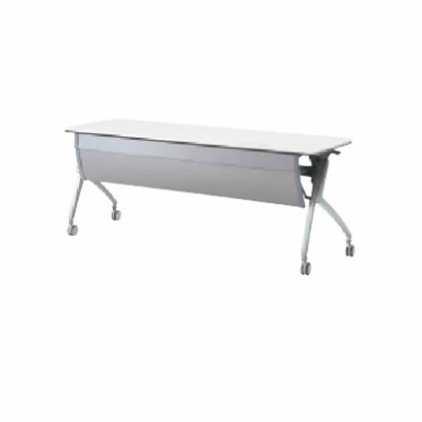Luarco フォールディングテーブル アール天板 幕板付・配線孔付 幅1800×奥行600×高さ720mm【XT-620MW】