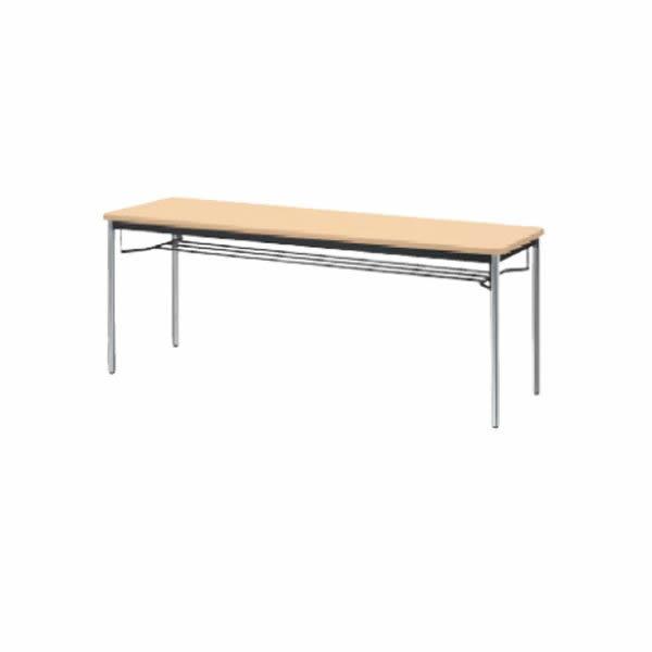 YB2テーブル  棚付 メッキ脚  幅1200×奥行750×高さ700mm【YB-S425】