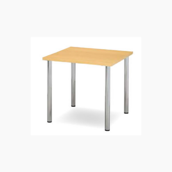 ミーティングテーブル 幅900×奥行900mm 天板エッジ:共張り アイボリー【YMT-9090-IV】