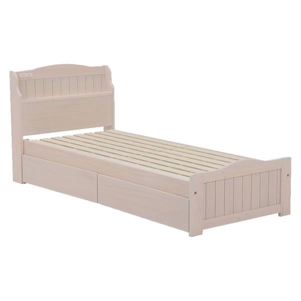 引出し付ベッド(セミシングルショート) MB-5005SS-WS【HA-101576100】