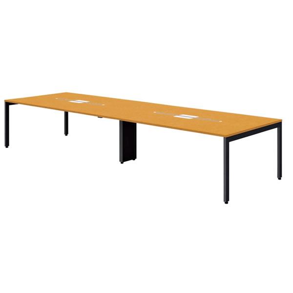 FV エフブイ 会議用テーブル 突板タイプ 幅3600×奥行1200×高さ720mm【FV-3612V】