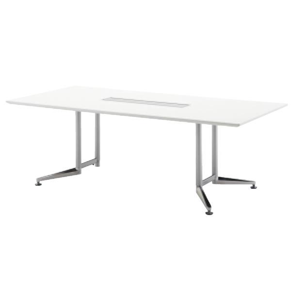 WX-J2 会議用テーブル スクエア天板 【配線口無し】 幅2100×奥行1000×高さ700mm【WX-JR2100S】