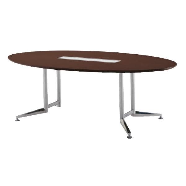 WX-J2 会議用テーブル オーバル天板 【配線口付】 幅2400×奥行1200×高さ700mm【WX-JR2400VHS】