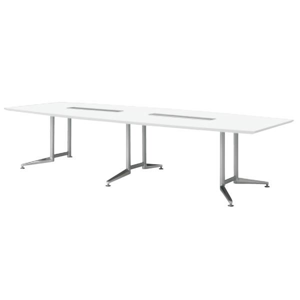 WX-J2 会議用テーブル ラウンド天板 【配線口無し】 幅3200×奥行1200×高さ700mm【WX-JR3200】