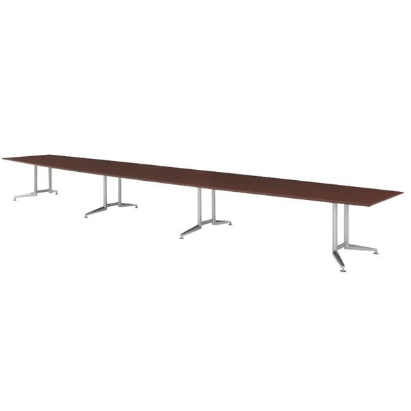 WX-J2 会議用テーブル ラウンド天板 幅6400×奥行1200×高さ700mm【WX-JR6400】