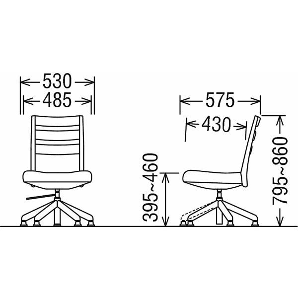 【CT6137-LL】 合成皮革張 CT61モデル ダイニングチェア/ 食堂椅子 カリモク (回転昇降式) 【COM オークD・G・S/リーベルラルゴ】