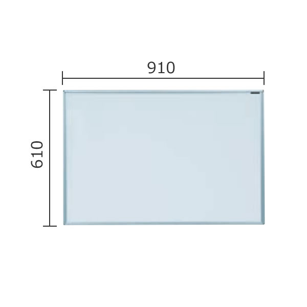 マジシリーズ 壁掛無地ホワイトボード ホーロータイプ 910×610mm【MH23】