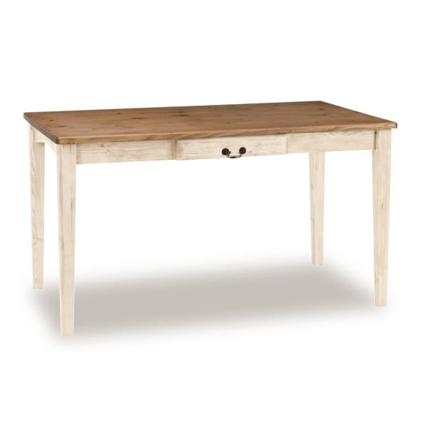 【GALETTE・ガレット】 ダイニングテーブル ガレット125WH/BR(ホワイト/ブラウン)【Y-O1176】