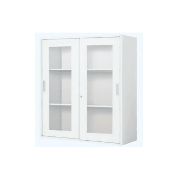 コクヨ INVENT/インベント ストレージ 2枚ガラス引き違い戸 上置き 3段 幅900×奥行450×高さ1050mm【WM-HG259】