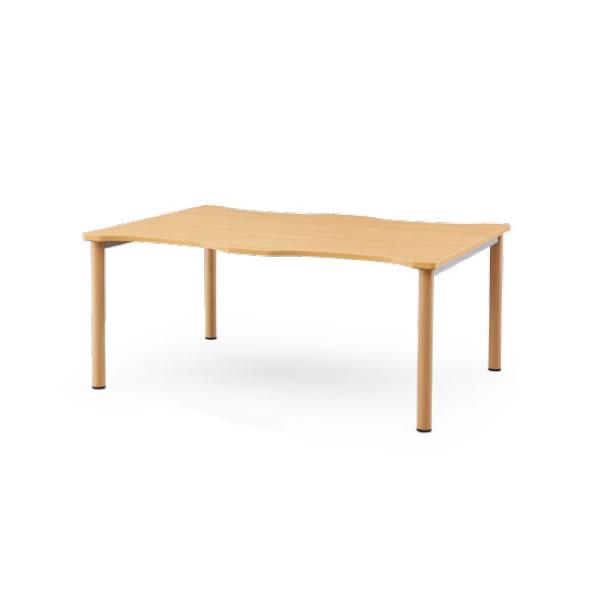 介護用テーブル NSTシリーズ 木目調塗装脚 幅1600×奥行1200mm【NST-1612-M1】