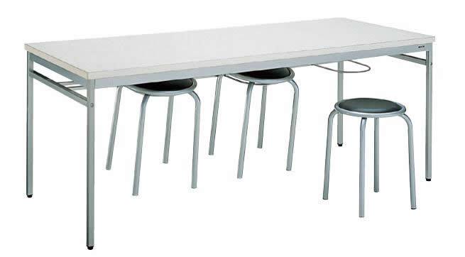 コクヨ 食堂用テーブル スツールハンガー付きダイニングテーブル 幅1800×奥行750×高さ700mm【AT-60SWN】