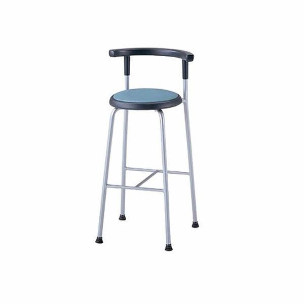 作業用チェア 丸椅子 背付スツール 座360Φタイプ ビニールレザー張り【R-540L】