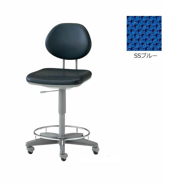 作業用チェア 製図・オペレーター・カウンター用チェア 肘無 布張り【TEL-SD6C】