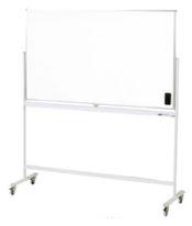 ホワイトボード(スチール) 脚付き両面 板面サイズ:幅1805×高さ910mm【WBS-1809RF】