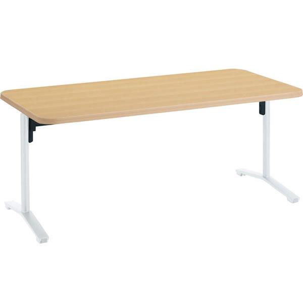 高齢者施設用家具 ダイニングテーブル フラップ式 幅1800×奥行900×高さ685mm【HE-11FT1809L】