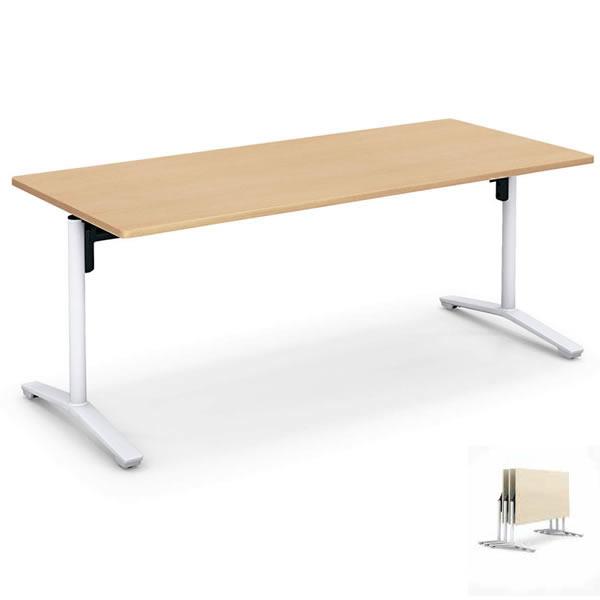 コクヨ ランチルーム用テーブル フラップタイプ 6人用 幅1800×奥行800×高さ700mm【MT-LF188M10】