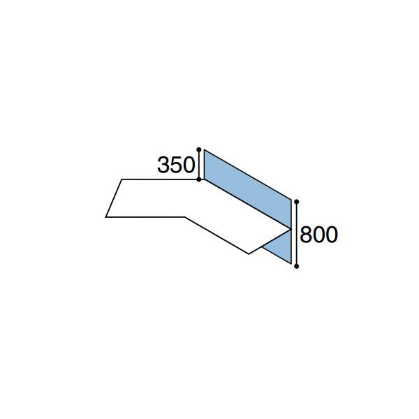 ワークフィット オプション デスクトップパネル ブーメラン用 幅1200mm【SDV-WF128L】